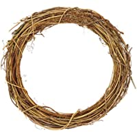 Baker Ross Fournitures de Loisirs créatifs de Noël Couronnes en rotin pour Les créations et décorations de Noël (Lot de 2)