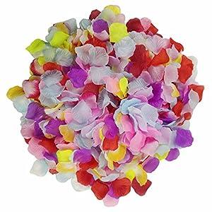 Pétalos de rosa monolíticos y coloridos, de Skyshadow, flores artificiales, pétalos de seda para bodas, ambientes…