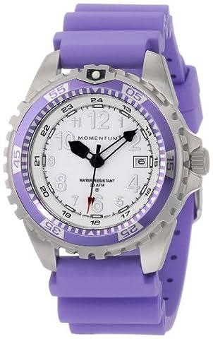 Momentum Ladies 1M-Dv11Wp1L M1 Twist Purple Bezel Lavender Silicone Rubber Watch