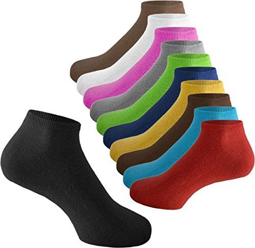15 Paar original normani® Sneaker Socken für Sie und Ihn - Viele trendige Farben und Größen 35-50 wählbar! - Qualität von normani Farbe Marine/Jeans/Grau/Weiß/Schwarz Größe 37/42 (Weiße Jeans Socken,)