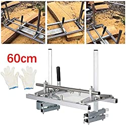 """HUKOER Moulin à scie à chaîne 24 Pouces scie à chaîne Portable Mill Aluminium Acier Mig scie à broyer 14""""-24"""" Planking Lumber Barre de Coupe"""