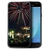 Stuff4 Gel TPU Hülle / Case für Samsung Galaxy J3 2017/J330 / Feuerwerk Muster / Thailand Landschaft Kollektion