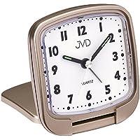 JVD SRP501.2 Wecker Quarz analog golden leise ohne Ticken mit Licht Snooze