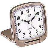 JVD SR808.2 Wecker Reisewecker Klappwecker Quarz analog golden mit Licht Snooze