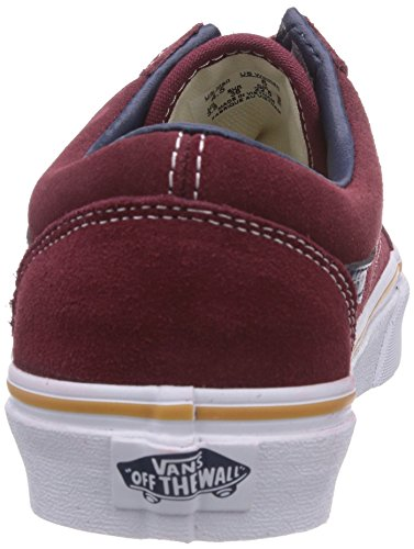 Vans U Old Skool, Unisex - Erwachsene Sneaker Rot ((Suede/Leather) oxblood red)