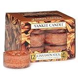 Yankee Candle 1055980E - Canela en rama Velas de Té Aromáticas Paquete de 12 unidades color Orange