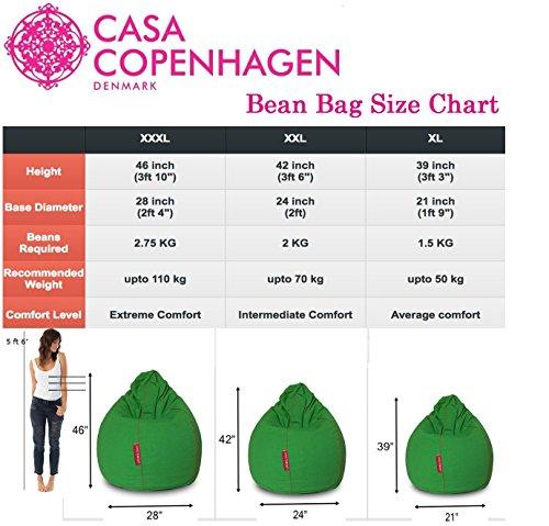 Casa Copenhagen 2 Kg Premium A-Grade Extra Large Virgin Bean Bag Refill/Filler