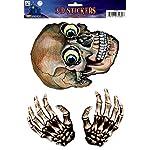 labreeze Halloween Horror 3D Effect Window Stickers Skull & Skeleton Hands Party Decorations