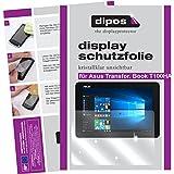 dipos I 2x Schutzfolie klar passend für Asus Transformer Book T100HA Folie Displayschutzfolie