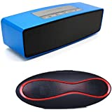 Drumstone S207 Mini Wireless Portable Bluetooth Speaker With Rugby Ball Shaped Wireless Hands-free Bluetooth Speaker Supports SD And FM Radio Compatible With Xiaomi, Lenovo, Apple, Samsung, Sony, Oppo, Gionee, Vivo Smartphones (One Year Warranty)