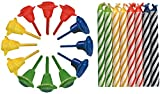 Duni Geburtstagskerzen 12 Halter + 24 Kerzen, ca. 1 Std. farbig, sortiert