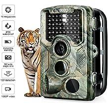 """Enkeeo PH760 Fotocamera da Caccia 1080P 16MP Infrarossi Scouting Camera HD Ampia visuale 47pcs 850nm IR Visione Notturna Fino a 20m IP56 Impermeabile 0.2s Tempo di Attivazione 2.4"""" LCD Schermo"""