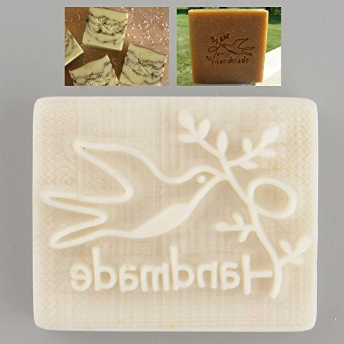 Kicode Yellow Resin Soap Stamp Pigeon Desing Handmade Stamping Mold Mould DIY Gift
