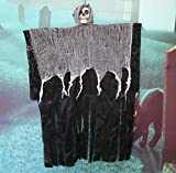 Ning Night Halloween Pendentif crâne Noir décoration Squelette pendentifs Suspendu Magasin Fournitures atmosphère,B