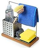 VONSALEN Premium Caddy Edelstahl & Bambus Ordnungshelfer Küchen Organizer Aufbewahrung Küche Kitchen Accessoires