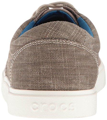 Crocs Citilane Canvas Lace M Kha/Whi, Chaussures à Lacets Homme Marron (Khaki/White)