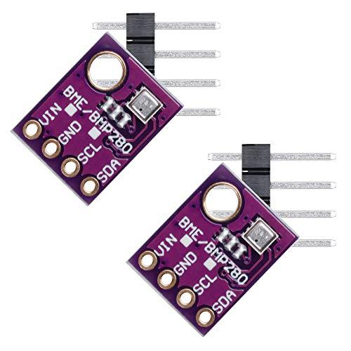 Anpro 2Stk GY-BME280 Digital Sensor barometrischer Luftdruck Luftfeuchtigkeit Temperatur Modul für Arduino Raspberry Pi DIY SPI 5V, MEHRWEG -