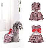 Robe de Princesse pour Chiens de Taille Petite Vêtements pour Animaux de Compagnie par Awhao Haute Waisted Rayé L