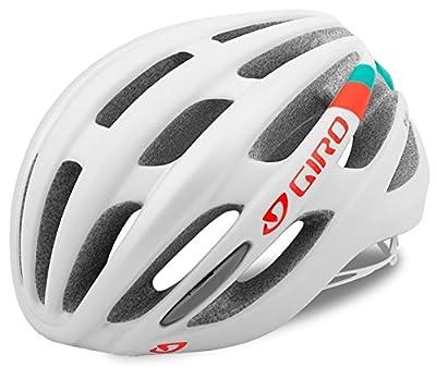 Giro Saga Womens Bike Helmet–Matte White/Turquoise/Vermillion from Giro