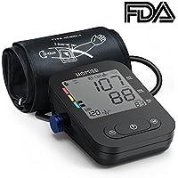 HOMIEE Tensiómetros de Brazo Digital, Detección del Pulso Arrítmico,Validado Clínicamente,Memoria 240 Mediciones para 2 Usuarios, Color Blanco,Certifica FDA CE (Negro)