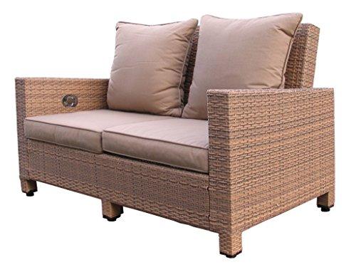 Lounge Sofa Lanzarote 2 sitzig verstellbar inkl. Kissen