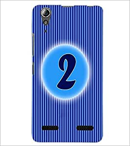 PrintDhaba Numerology Number 2 D-2557 Back Case Cover for LENOVO A6000 PLUS (Multi-Coloured)