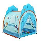 Kind Spiel Haus, Bobo Ball Marine Ball Pool Indoor Boy Spielzeug Zimmer Mädchen Prinzessin Zimmer Baby Haushaltszelt 117 * 105 * 135 cm (Farbe : Blau)