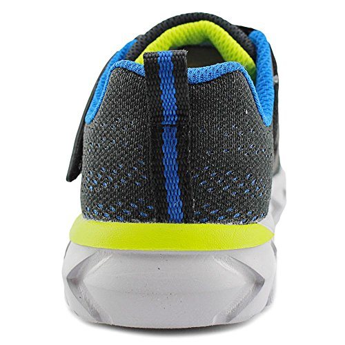 Skechers Protons Breit Maschenweite Tennisschuh Black/Blue/Lime