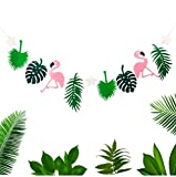 Cheap4uk Hawaiian Tropical Flamingo Banner 1pc Flamingo Fabric Banner Garland for Party Wedding Birthday Home Decoration