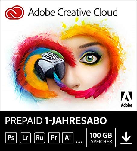Adobe Creative Cloud | 1 Jahreslizenz | PC/Mac | Online Code & Download