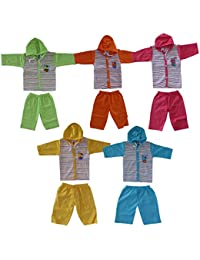 VINAB Cotton Clothing Set for Infants(TN585Pcs, Multicolour, 6 To 12 Months) - Pack of 5