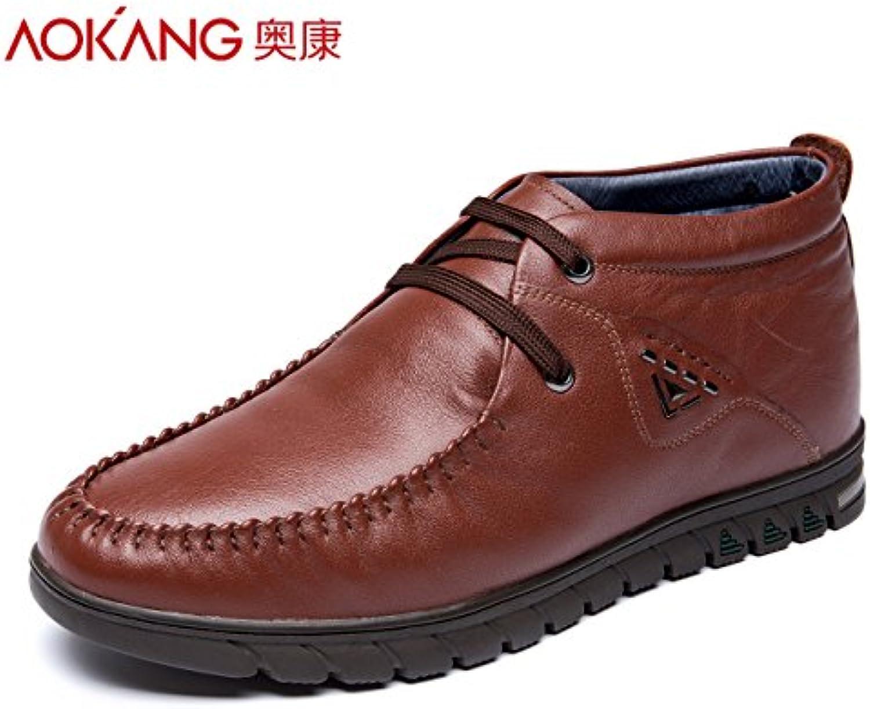 Alta Aemember ayuda Zapatos de algodón caliente zapatos casual de negocios cabeza redonda con zapatos de hombre...