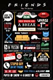 Friends TV Show Infografik Poster - 91,5 x 61cm