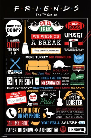 Friends TV Show Infografik Poster - 91,5 x 61cm (Tv-show 24)