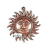 craftvatika Gott Sonne Metall Wand aufhängen Skulptur | Hindu Idol Lord Surya DEV Home Decor Lucky Dekorative Art Wand