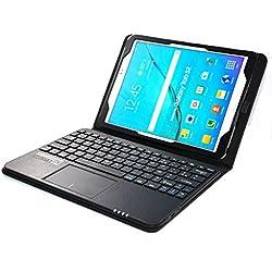 MQ pour Galaxy Tab S2 9.7 - Etui avec clavier français AZERTY pour Samsung Galaxy Tab S2 9.7 LTE SM-T815, SM-T819, Tab S2 9.7 WiFi SM-T810, SM-T813 | Housse avec clavier bluetooth, touchpad multifonctionne (pavé tactile) intégré en clavier