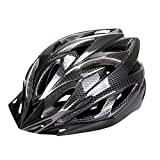 Fahrradhelm, Six Foxes Unisex Erwachsenen Leichtgewicht Schutzhelm Fahrrad Helm mit 18 Belüftungsöffnungen, abnehmbare Visier und Einstellbares Radsystem Fur Herren Damen (Schwarz)