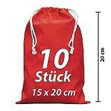 Sacchetto di stoffa vestito ersacke lavanderia zuzieh sacchetto con cordino rosso 15x 20cm 10pezzi