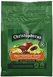 Christopherus Ergänzungsfutter für Hunde, Flockenmischung, Obst und Gemüse, Getreidefrei, Obst-Gemüse-Ernte, 300 g