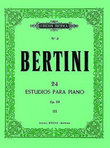 24 Pequeños estudios para piano, Op. 29: III por Henri Bertini