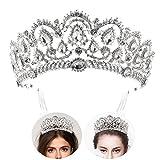 Frcolor Prinzessin Tiara Krone mit Kamm, Braut Hochzeit Rhinestone Kristall Königin Crown Stirnband für Hochzeit Braut Partei Geburtstag