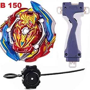 BEAU STUTI Battling Top Beyblades GT B-150 Booster Union Achilles Cn.Xt+ Retsu Rise Starter Set Launcher + Grip Set Toys for Kids
