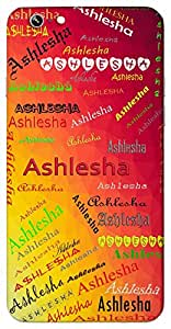 Ashlesha (Popular Girl Name) Name & Sign Printed All over customize & Personalized!! Protective back cover for your Smart Phone : Samsung Galaxy Note-5