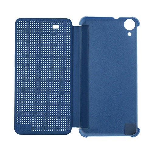 Wkae Case Cover Für HTC Desire 820 intelligenter Schlag-Punkt-Ansicht Ledertasche mit Schlaf und Wake-up-Funktion ( Color : Grey ) Blue