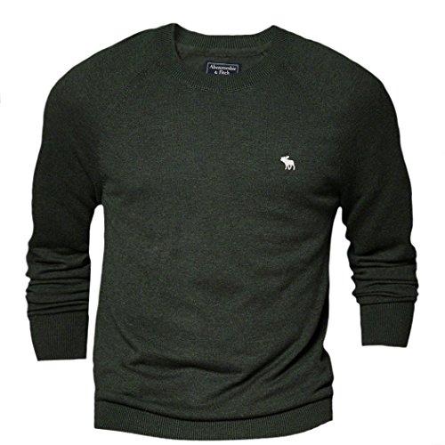 abercrombie-herren-wool-blend-slim-fit-sweater-pullover-grosse-medium-grun-623439925