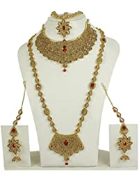 MUCH MORE Gold Plated Ethnic Look Collection Design Bridal Necklace Set For Women
