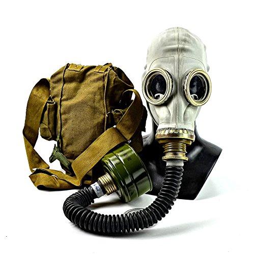 roduktion von sowjetischen russischen Gasmasken Kit mit schwarzem Gummischlauch Gesichtsmaske Atemschutz Replica - L ()
