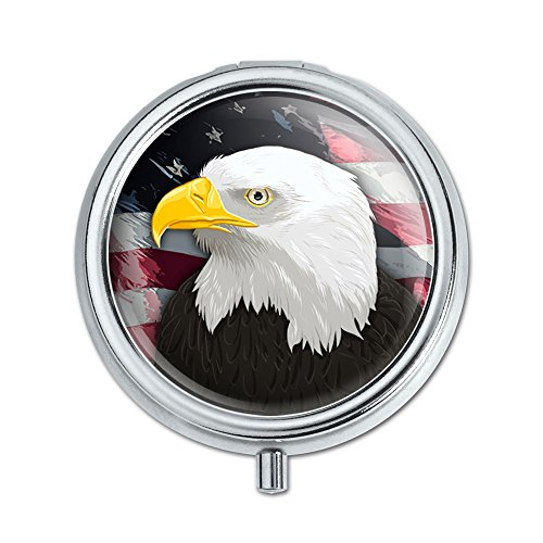 American Bald Eagle Flag USA Patriotic Pill Case Trinket Gift Box by Graphics and More (Eagle Flag American)