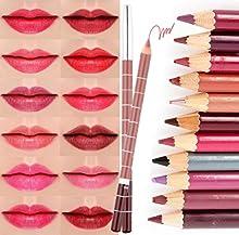 CINEEN 28 PCS Lapices Delineador Para Labios Ojos Larga Duracion Hermosa Mujeres Maquillaje Matte Impermeable Lip Liner Lápiz Cosmético