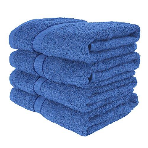 4er Pack weiche TERRYLAND Frottee Handtücher 50x90 cm - 100% Baumwolle, Oeko-Tex Standard 100, Bordüre - Farbe: Princess Blue